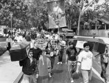 Anti-apartheid protesters at U.C.L.A.