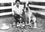 "Ernest Balucas and his dog, ""Shep"""