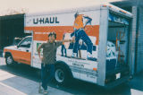 Jae Jung with a U-Haul truck