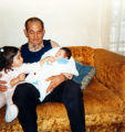 Grandfather with girls