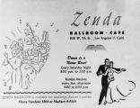 Zenda Ballroom Cafe advertisement