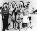 Iron Eyes Cody with friends and family