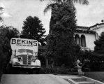 Moving day for Virginia Hill, companion of Bugsy Siegel
