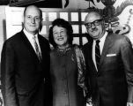 Helen and Louis with Moshe Landau