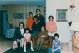 Iranian family gathered in living room