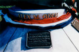 Plaque for statue to Alex Odeh