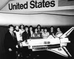Students with Space Shuttle