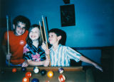 Cousins play pool