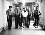 Charles Manson with deputies