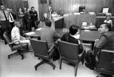 Charles Manson and Susan Atkins in Santa Monica court