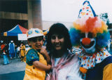 Happy moment with a clown