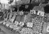Market display of fresh produce