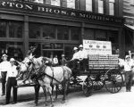 Frank Simpson Fruit Co. wagon on street