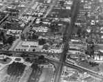 Aerial view of Hollywood Blvd. and Vermont
