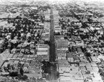 Aerial view of Hollywood Blvd., looking east