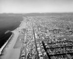 Venice and Santa Monica, aerial view