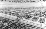 Venice, aerial view, postcard