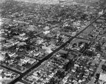 Aerial view of Wilshire Blvd. and vicinity