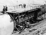 Portion of California Aqueduct being built
