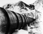 Aqueduct pipeline snakes up the hill