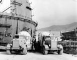 Cement trucks at San Onofre