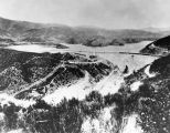 Aerial view of St. Francis Dam