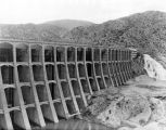 Irrigation dam in desert