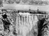 First water over Hemet Dam, 1906