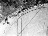 Crowd on top of Tujunga Dam