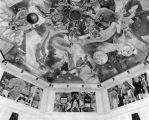 Ceiling and murals at Griffith Observatory