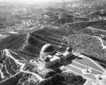 Aerial view of Griffith Observatory and vicinity