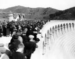 Crowd on Mulholland Dam during dedication