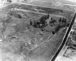 Aerial view of tar pits area