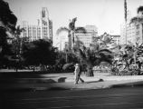 Walking past Pershing Square
