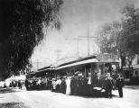 Trolley cars in Hollywood