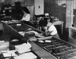 Telephone operators at Parker Center