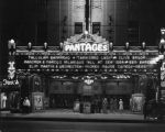 Lighted marquee, Pantages Theatre