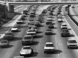 Heavy traffic on Harbor Freeway