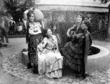 Female group in ethnic dress, Olvera Street