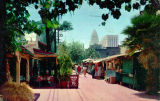 Olvera Street with City Hall in background