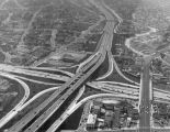 Aerial view of the Los Angeles freeway system