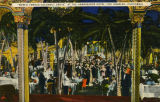 Postcard of the interior, Cocoanut Grove nightclub