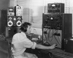 Radio operator at desk