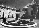 Doheny mansion courtyard