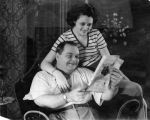 "Roscoe ""Fatty"" Arbuckle with Addie McPhail"