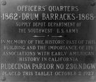 Fort Drum Barracks plaque