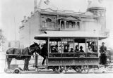 Mule-drawn street car