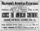 Advertisement for excursions on the Santa Fe