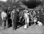 Mary Pickford planting tree