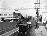 Looking down Pico Boulevard from Western Avenue